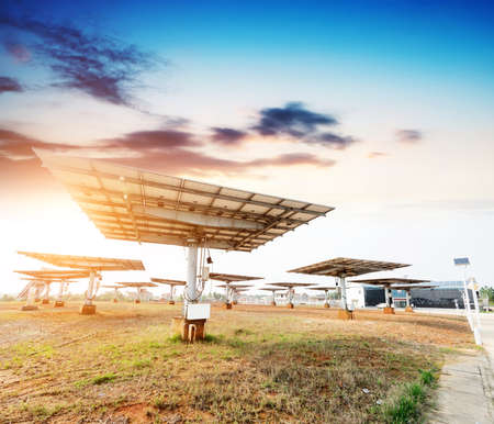 photovoltaic panels - solar panel to produce clean, sustainable, renewable energy - alternative electricity source
