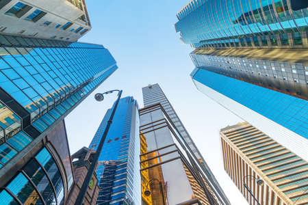 exterior wall: modern business center in hongkong Stock Photo