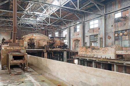abandoned factory: Old abandoned factory Stock Photo