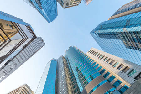 modern business center in hongkong photo