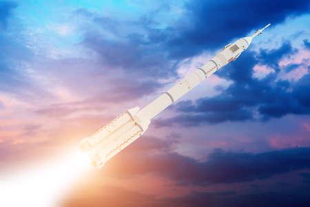 Raumfähre Ausziehen auf einer Mission