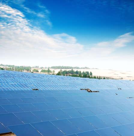 heat radiation: Solar panels Stock Photo