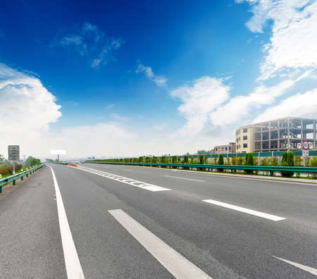 curve road: concrete road curve of viaduct in shanghai china outdoor Stock Photo