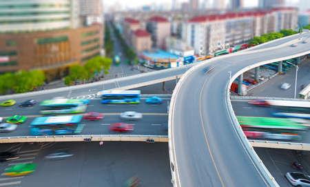 overpass: city highway overpass Stock Photo