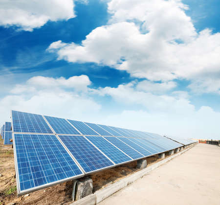 photovoltaic panels - solar panel to produce clean, sustainable, renewable energy - alternative electricity source Stock fotó - 40952951