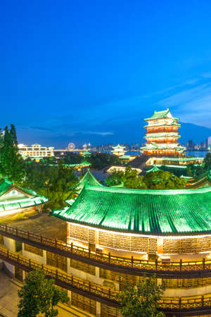 teng: Pavilion of Prince Teng, night view