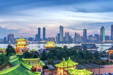 Aerial view of chinese city,shenzhen Standard-Bild