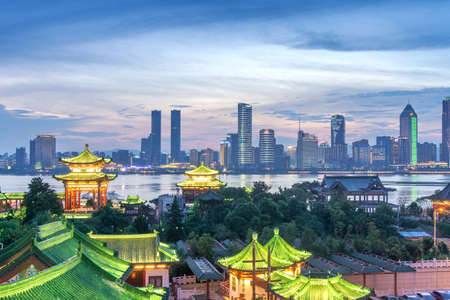 Aerial view of chinese city,shenzhen Foto de archivo