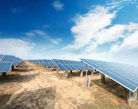 panel: Solar panels against blue sky