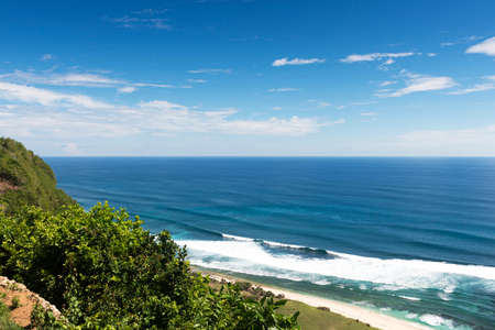 nusa: Dream beach at sunny day. Lembongan island, Bali, Indonesia