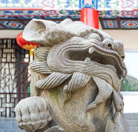 especially: Stone Lion sculpture, symbol of protection & power in Oriental Asia especially China