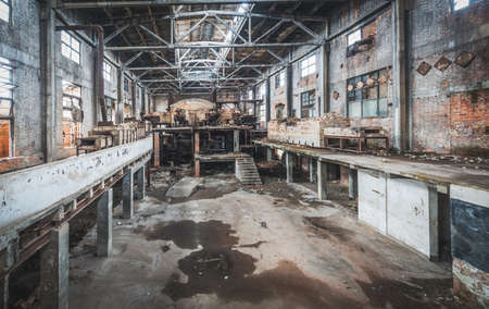 abandoned factory: Old abandoned factory Stock Photo