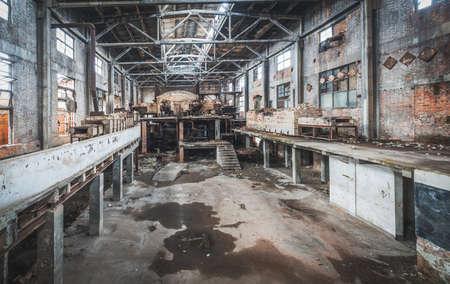 destructive: Old abandoned factory Stock Photo