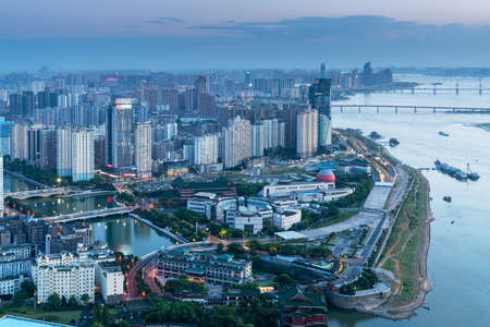 Panoramic view of Nanchang, the capital of Jianxi