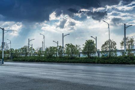 La avenida del siglo de la escena callejera en Shanghai Lujiazui, China.