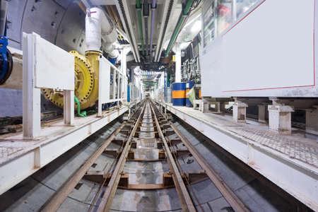 U-Bahn-Tunnel im Bau