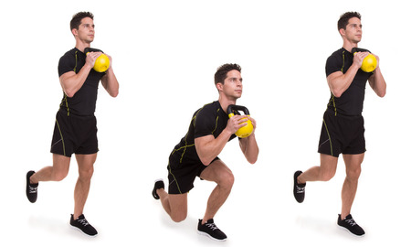 lunges: Kettlebell, Uni Front Squat