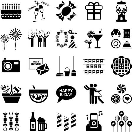 christmas cake: Party icons Illustration