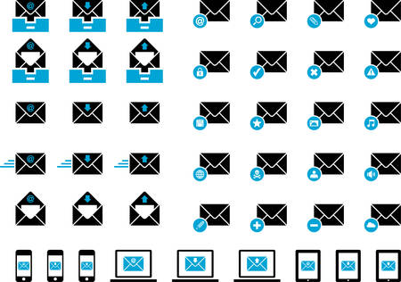 select all: Mailing icons
