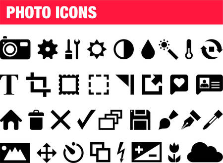 lens brush: Photography icons