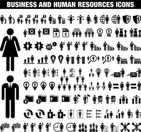 Business and Human Resources icons Vector