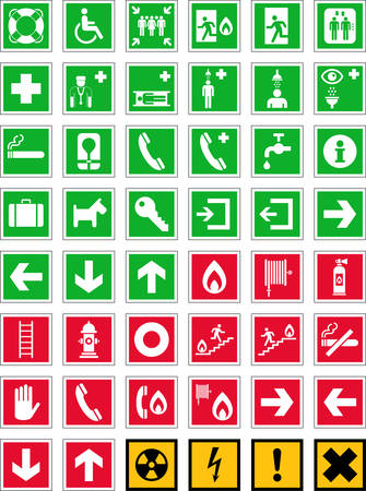 Emergency signs Stock Vector - 23071607