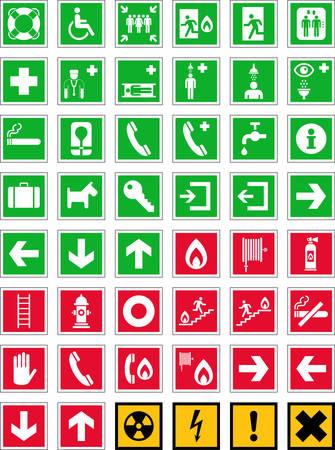 Signes d'urgence Banque d'images - 23071607