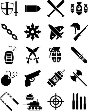 Weapons icons Vector