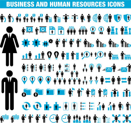 Business and Human Resources icons Stok Fotoğraf - 23226701