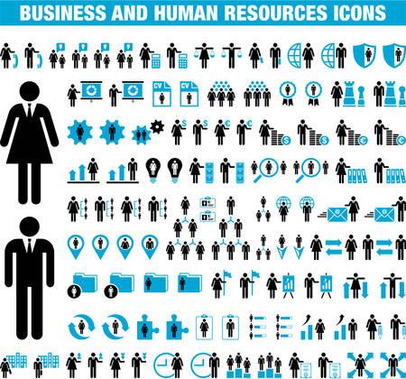 Icone di affari e risorse umane