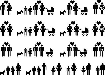 perro familia: Familias  Vectores