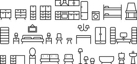 domestic bathroom: Furniture icons