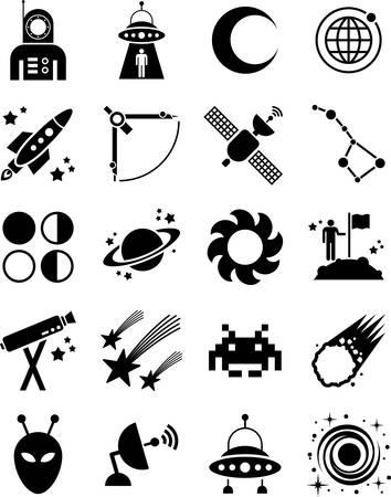 fernrohr: Astronomie-und Raum-Icons