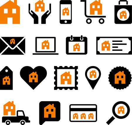 Conceptual House icons Vector