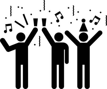 Pictogram of a Party Фото со стока - 23226843