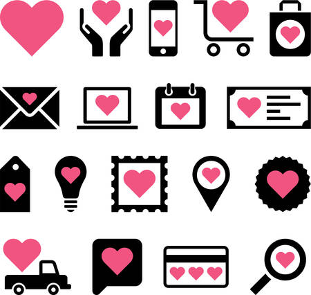 Conceptual Heart icons Vector