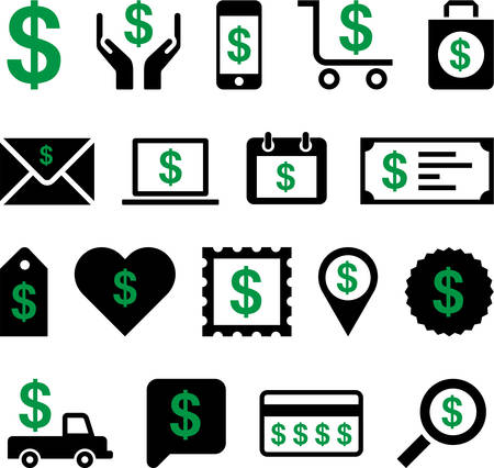 Conceptual Dollar icons Vector