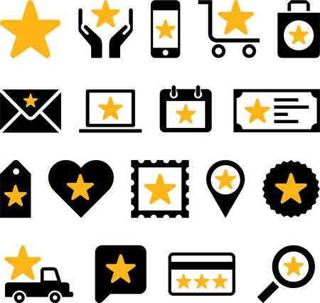 Conceptual Star icons Vector