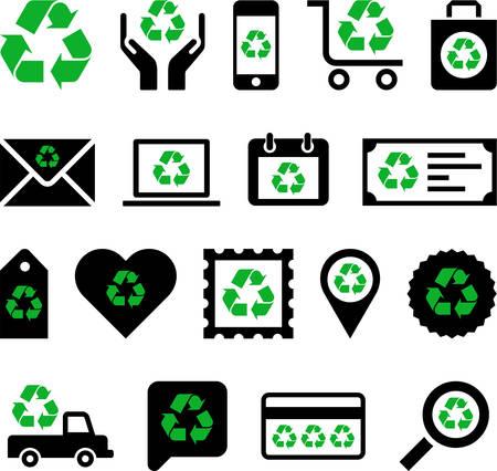 Conceptual Recycling icons Stock Vector - 23226916
