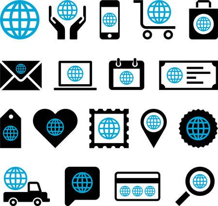 Conceptual World icons Stock Vector - 23226918