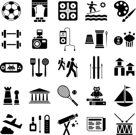 Vrije tijd iconen Vector Illustratie