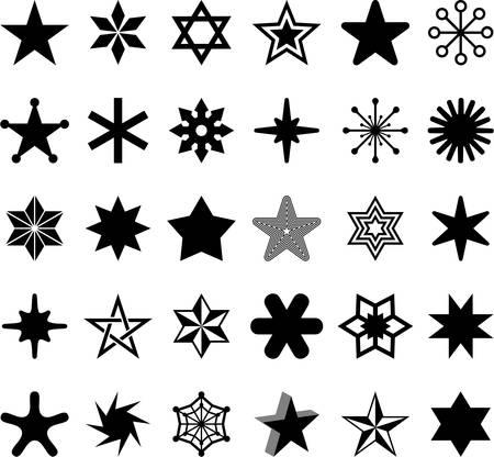 estrella de david: Juego de Estrellas Vectores
