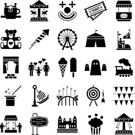 Icônes Amusement Park Banque d'images - 23644273