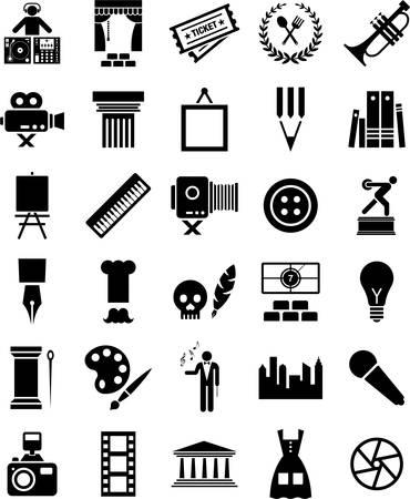 cuisine entertainment: Arts and enterteniment icons
