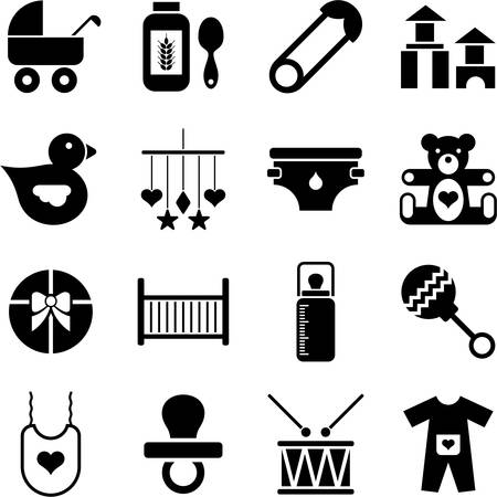 Baby icons Vector