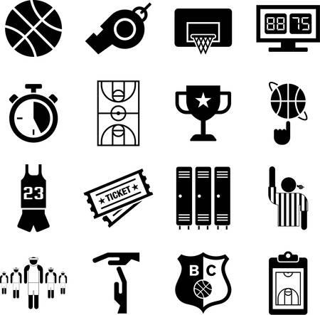 basketball court: Basketball icons