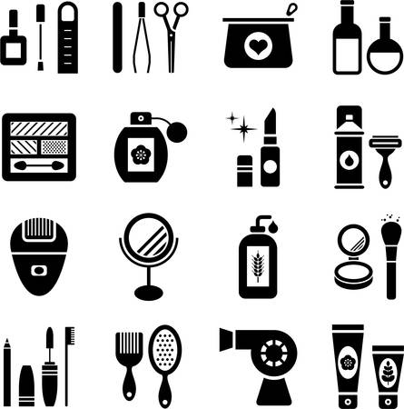 hair dryer: Iconos de la belleza Vectores