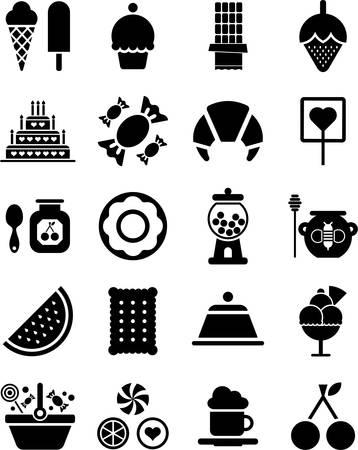 gelato: Sweets icons Illustration