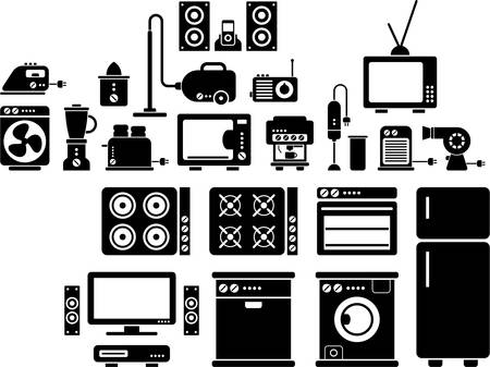 music machine: Home appliances Illustration