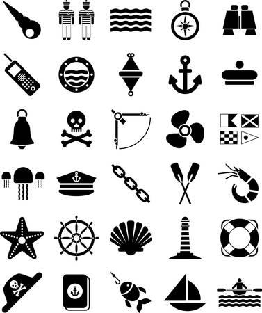 canoa: Náutica iconos y Marino